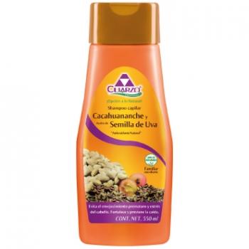 Cacahuananche shampoo, with grape seeds.