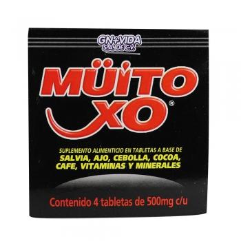 TBS. MUITO XO C/4- CARTERA CON 4 TABLETAS.