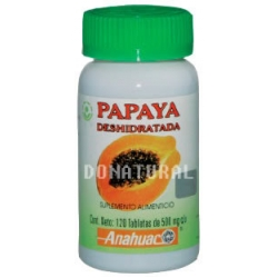 Papaya Deshidratada Tabletas
