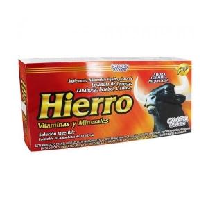 Hierro Vitaminado Ampolletas Ingeribles